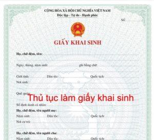 Thủ tục đăng ký khai sinh từ ngày 04/9/2020